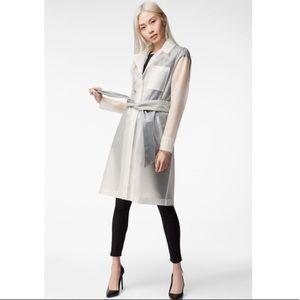 BNWT J Brand Marley Translucent Clear Trench Coat
